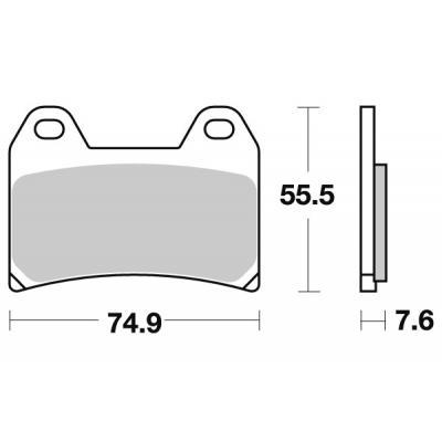 Plaquettes de frein SBS métal fritté 727HS