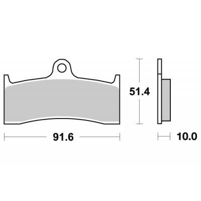 Plaquettes de frein SBS métal fritté 729HS