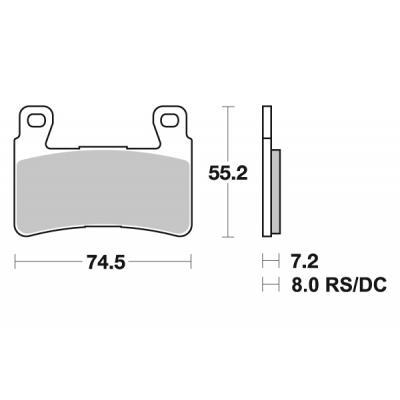 Plaquettes de frein SBS métal fritté 734HS
