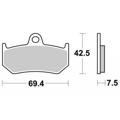 Plaquettes de frein SBS métal fritté 763LS