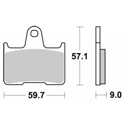 Plaquettes de frein SBS métal fritté 765LS