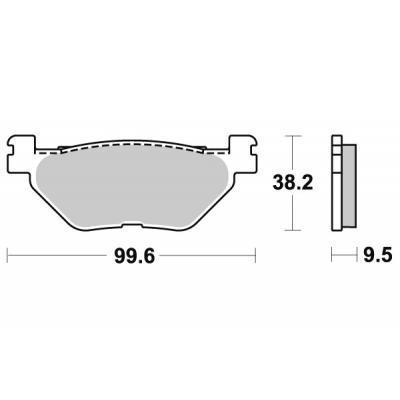 Plaquettes de frein SBS métal fritté 769LS