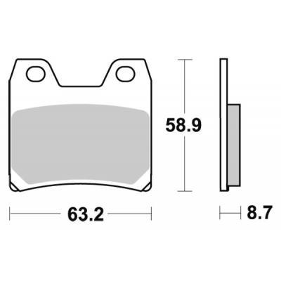 Plaquettes de frein SBS métal fritté 770LS