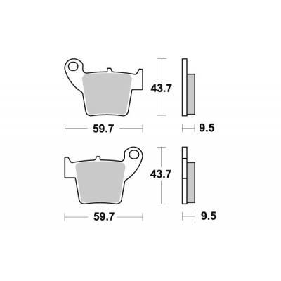 Plaquettes de frein SBS métal fritté 777SI