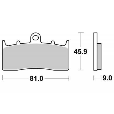 Plaquettes de frein SBS métal fritté 778HS