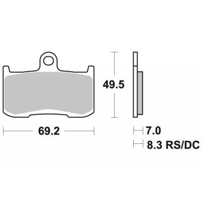 Plaquettes de frein SBS métal fritté 782RS
