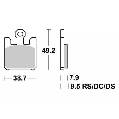 Plaquettes de frein SBS métal fritté 788HS