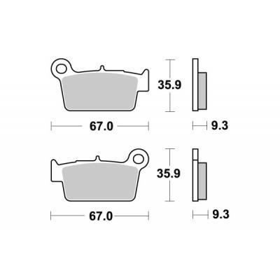 Plaquettes de frein SBS métal fritté 790SI