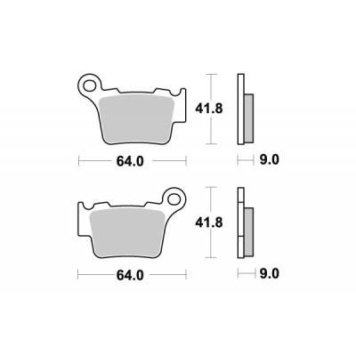 Plaquettes de frein SBS métal fritté 791SI