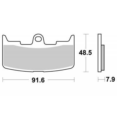 Plaquettes de frein SBS métal fritté 795RS