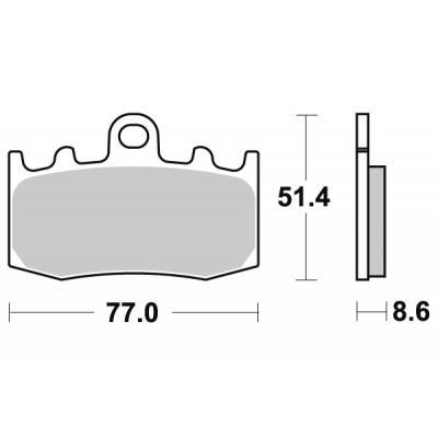 Plaquettes de frein SBS métal fritté 796HS