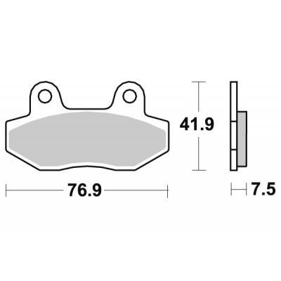 Plaquettes de frein SBS métal fritté 814HS