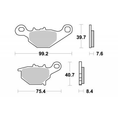 Plaquettes de frein SBS métal fritté 820RSI
