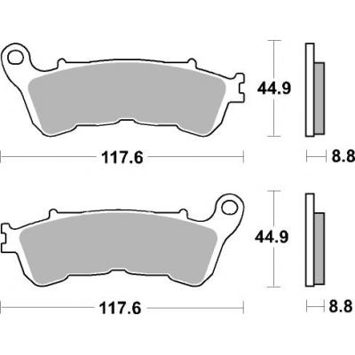Plaquettes de frein SBS métal fritté 828LS