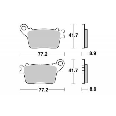 Plaquettes de frein SBS métal fritté 834LS