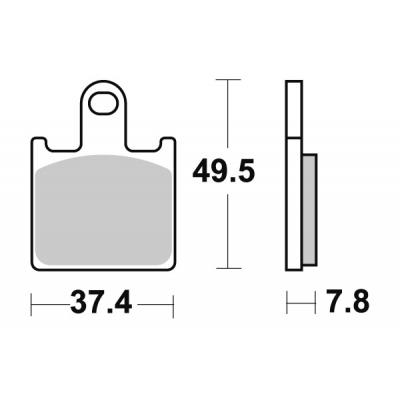 Plaquettes de frein SBS métal fritté 838RS