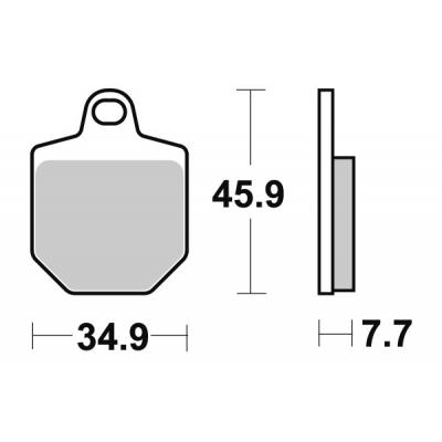 Plaquettes de frein SBS métal fritté 843RSI