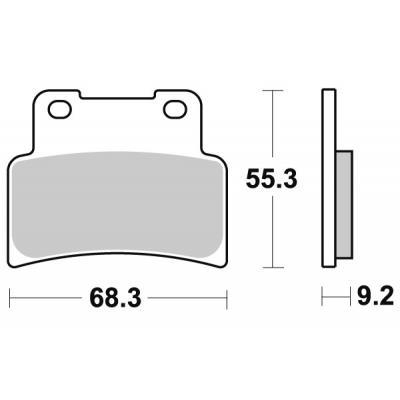 Plaquettes de frein SBS métal fritté 844RS