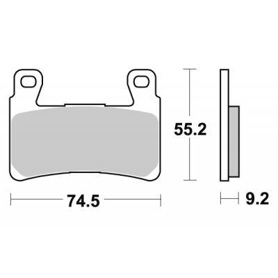 Plaquettes de frein SBS métal fritté 860H.HS