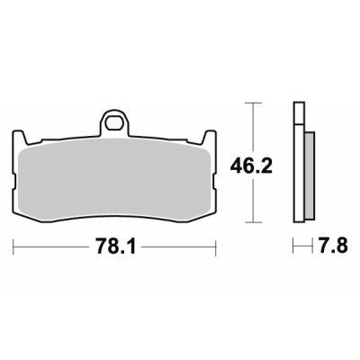 Plaquettes de frein SBS métal fritté 864RS