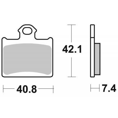 Plaquettes de frein SBS métal fritté 872RSI