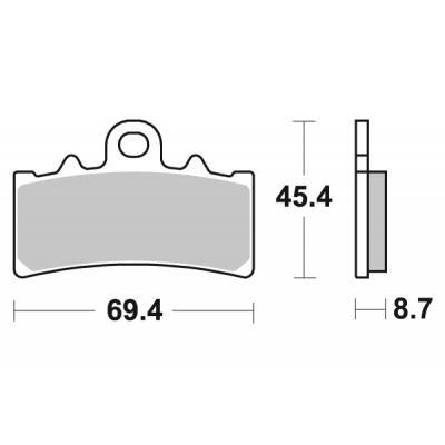 Plaquettes de frein SBS métal fritté 877RS