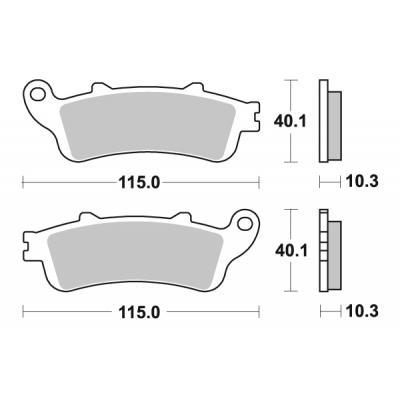 Plaquettes de frein SBS métal fritté 880LS