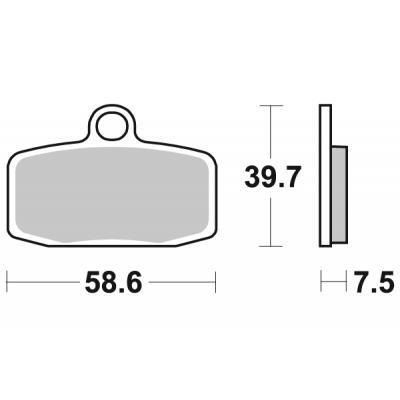 Plaquettes de frein SBS métal fritté 885RSI