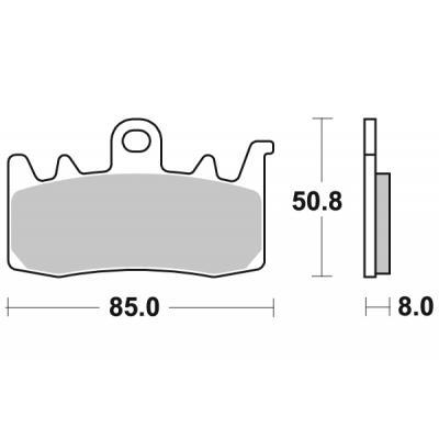 Plaquettes de frein SBS métal fritté 900HS