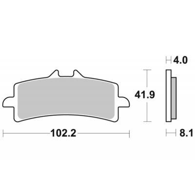 Plaquettes de frein SBS métal fritté 901HS