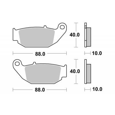 Plaquettes de frein SBS métal fritté 915SI
