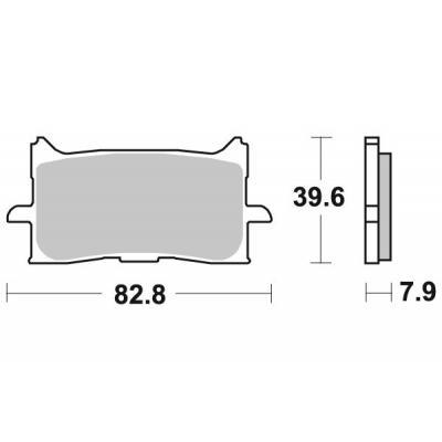 Plaquettes de frein SBS métal fritté 940HS