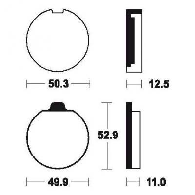 Plaquettes de frein Tecnium MA11 organique