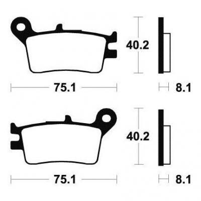 Plaquettes de frein Tecnium MA129 organique