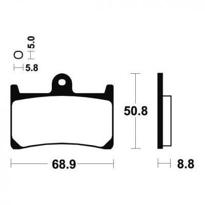 Plaquettes de frein Tecnium MA139 organique