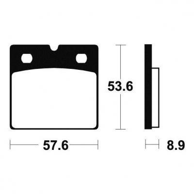 Plaquettes de frein Tecnium MA140 organique
