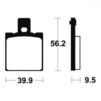 Plaquettes de frein Tecnium MA146 organique