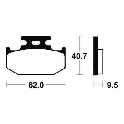 Plaquettes de frein Tecnium MA148 organique
