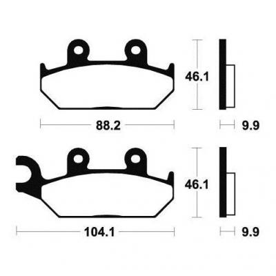 Plaquettes de frein Tecnium MA150 organique