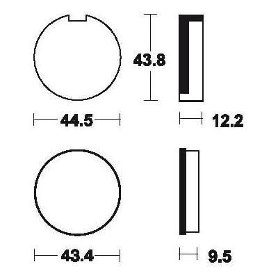Plaquettes de frein Tecnium MA16 organique