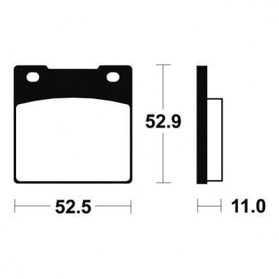 Plaquettes de frein Tecnium MA26 organique