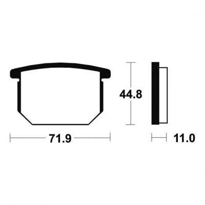 Plaquettes de frein Tecnium MA34 organique
