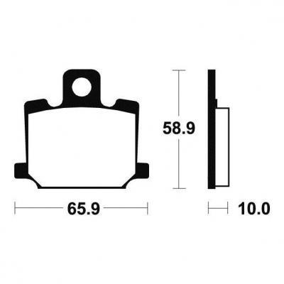Plaquettes de frein Tecnium MA35 organique
