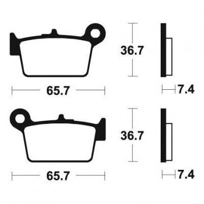 Plaquettes de frein Tecnium MA361 organique