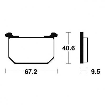 Plaquettes de frein Tecnium MA40 organique