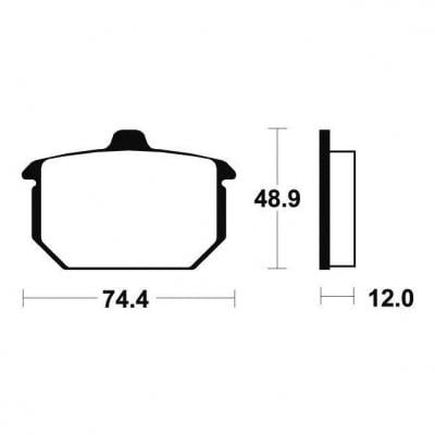 Plaquettes de frein Tecnium MA49 organique