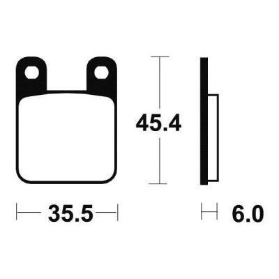 Plaquettes de frein Tecnium MA59 organique