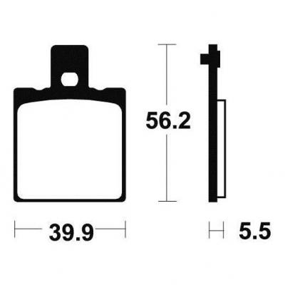 Plaquettes de frein Tecnium MA83 organique