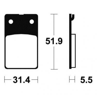 Plaquettes de frein Tecnium MA95 organique