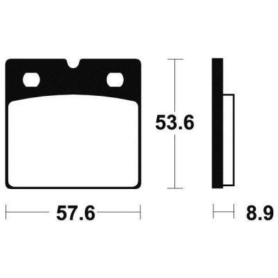 Plaquettes de frein Tecnium MF140 métal fritté